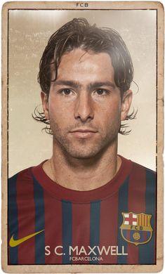 A agência Diver & Aguilar recriou as figurinhas do Barcelona para uma versão vintage com o atual plantel de jogadores, incluindo Messi, eleito o melhor jogador