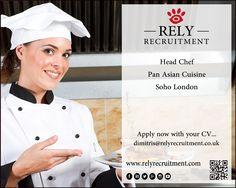 Pan Asian Head Chef required for brand new restaurant in Soho ( London )   #PanAsianCuisine #PanAsian #PanAsianChef  #Asianchef #cheflondon #chefjob #orientalchef #orientalchefjob #chefjobs #orientalchefs #orientalchefjobs #orientalcheflondon