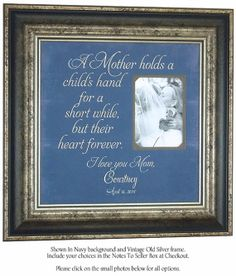 Mother of the Groom Gift A MOTHER HOLDS by PhotoFrameOriginals, $89.00