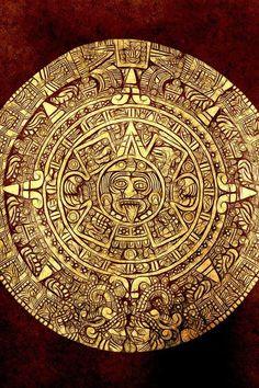 Aztec Calendar Stone: makes me think of ms. hudson