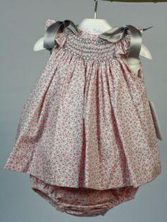 jesusito bebe niña estampado gris y rosa verano rochy