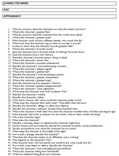 Answer all these questions and you should have a fully-developed character for your audience to connect with. A strong character can carry a weak plot; but a strong plot can't carry weak characters.