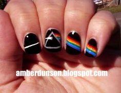 Pink Floyd's Dark Side of the Moon nail art. #amberdidit