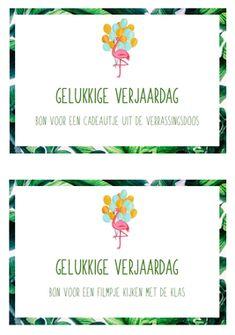 Verjaardagsbonnen Visible Learning, Flamingo, Back To School, Happy Birthday, Classroom, Teacher, Education, Frame, Flamingo Bird
