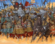 Timur the Lame's Cavalry Military Art, Military History, Persian Warrior, Golden Horde, Dark Ages, Mongolia, Medieval, Tabletop Rpg, Soldiers