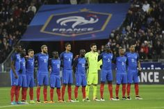 L'équipe de France de football mardi 29 mars 2016 au Stade de France