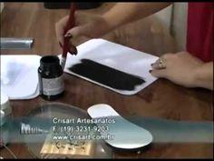 Caixa branca com preto arabesco - Artesã Marisa Magalhães - Aquarela Brasil Tintas - parte 1/2 - YouTube