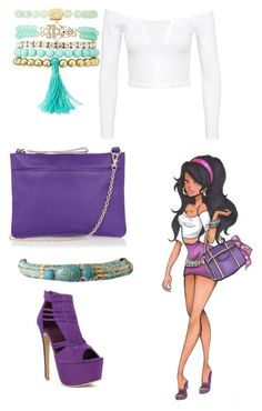 """""""Esmerepda"""" by urbanfashionstyle ❤ liked on Polyvore featuring Charlotte Russe, Disney, Jeane Blush and Oasis"""