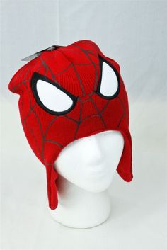 64a20ae096e293 Marvel Kids Youth Ultimate Spiderman Knit Fleece Lined Hat Cap NEW w/ Tags  #Marvel