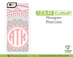 Monogram Personalized iPhone 6/6S Case, iPhone 6/6S PLUS, iPhone 5/5S,  iPhone 5C, iPhone 4/4S Beautiful Pattern