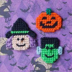 "Plastic Canvas: Mini Magnets, Halloween Set -- ""Ready, Set, Sew!"" by Evie (Etsy), $4.50"