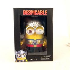 "27.67$  Watch now - http://alie8q.shopchina.info/go.php?t=32227318263 - ""New Arrival Classic Animation Movie Despicable Me Minions Thor Style 3D Eye Minion Cute 8"""" PVC Figure Toys New In Box""  #magazineonlinebeautiful"