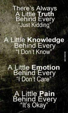 So true. There is always a little emotion behind every i dont care