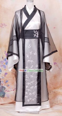 Ancient Chinese Wise Men Embroidered Bamboo Clothing Han Fu Complete Set for Men 2019 – Sommer Garten Hochzeits Kleider Hanfu, Traditional Fashion, Traditional Dresses, Ancient Egyptian Clothing, Chinese Dance, Latin Dance, Clothing Patches, Embroidered Clothes, Chinese Clothing