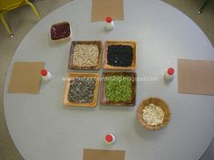 Provocations (Reggio)  Beans/Shapes/Gluing