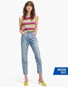 Mom fit basic - Nouveau | Stradivarius France France, United Kingdom, Mom Jeans, Capri Pants, The Unit, Fitness, Clothes, Women, Fashion