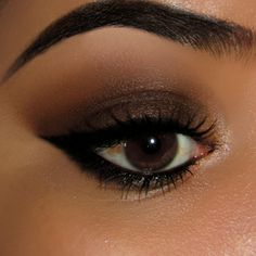 Maquiagem esfumada marrom