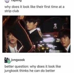 "Jungkook: ""Now I know I can do wayyyy better than that.c Hoseok:*is horrified* ""Oh my gawsh"" Taehyung: ""Wooooow"""