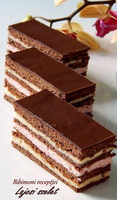 Lajcsi szelet Hungarian Cake, Tiramisu, Cake Recipes, Candy, Chocolate, Baking, Ethnic Recipes, Food, Life