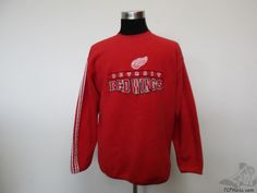 Active Detroit Red Wings Crewneck Fleece Sweatshirt sz XL Extra Large SEWN NHL #Active #DetroitRedWings  #tcpkickz