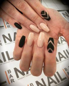 "138 aprecieri, 7 comentarii - NailBar (@nailbarofficial) pe Instagram: ""Matte black and nude #nailart #nailartclub #nailartoohlala #nails #instanails #nailstagram…"""