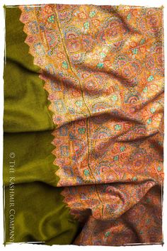 Another beautiful work of art - hand embroidered shawl from Kashmir, India