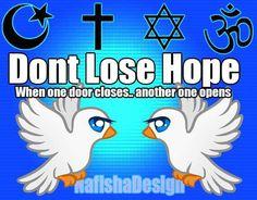 #NafishaDesign Hope Door Quote