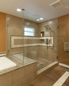 Master shower & tub completed in 2008 by Tenhulzen Remodeling.