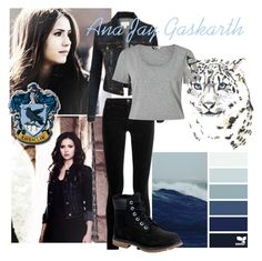 Ana Jay Gaskarth - Harry Potter by marsu-clifford on Polyvore featuring polyvore fashion style Miss Selfridge LE3NO J Brand Timberland clothing
