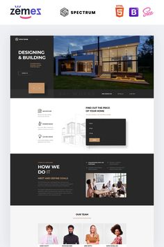 Architecture Ready-to-Use Landing Page Website Template - Landing Page - Ideas of Landing Page - Architecture Ready-to-Use Landing Page Website Template Landing Page Examples, Best Landing Pages, Landing Page Design, Web Layout, Website Layout, Website Ideas, One Page Website, Design Layouts, Design Templates