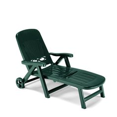 Italian plastic sun bed in forest green, anthracite grey and white col at My Italian Living Ltd Resin Furniture, French Furniture, Garden Furniture, Outdoor Furniture, Deck Chairs, Outdoor Chairs, Outdoor Decor, Grey And White, Green And Grey