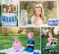 Easter mini sessions tricycle, basket, egg stand Keller, Texas childhood photographer #dawnlopezphotography www.dawnlopezphotography.com