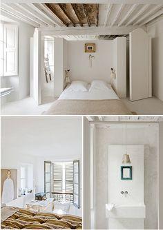 white rustic bedroom