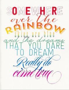 'Over the Rainbow' Print