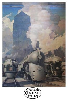 Vintage 1945 Leslie Ragan New York Central Railroad by ViewObscura
