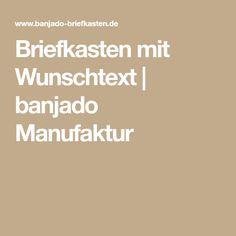 Briefkasten mit Wunschtext   banjado Manufaktur