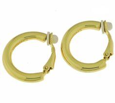 Boucles d'oreilles clips Créoles d'Alexandrine. Bijoux créateurs. En vente en boutique et sur notre site internet : http://www.bijouterie-influences.com/116_Creoles-Alexandrine
