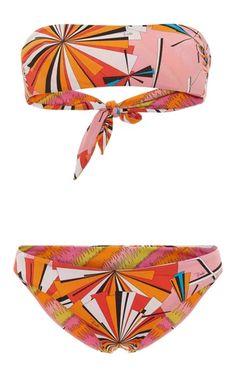 printed bandeau bikini set - White Emilio Pucci Cheap Sale In China Clearance In China zc1llicZl