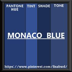 PANTONE SEASONAL COLOR SWATCH MONACO BLUE