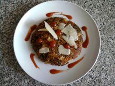 Risotto di verdure  al salto con salsa  al pomodoro speziato al curry  Gino D'Aquino