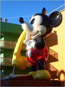 Overview of Disney's Value Resorts (image Mickey Telephone at Disney's Pop Century Resort)