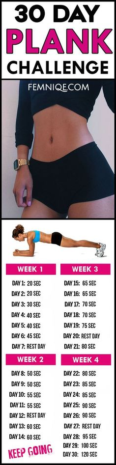 Powerful 30 day plank challenge for beginners before and after results - Try this 30 day plank challenge for beginners to help you get a flat belly and tiny/smaller waist. for beginners 30 Day Plank Challenge For Beginners (Fat Burner) Fitness Workouts, Fitness Herausforderungen, At Home Workouts, Fitness Motivation, Workout Bodyweight, Exercise Motivation, Workout Plans, Shape Fitness, Health Fitness