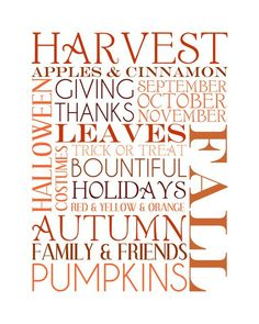 Autumn Equinox:  Harvest Printable for the #Autumn #Equinox.