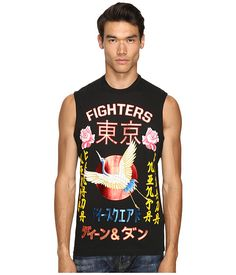 DSQUARED2 Long Cool Fit Punk Manga Gang Muscle Tee. #dsquared2 #cloth #shirts & tops