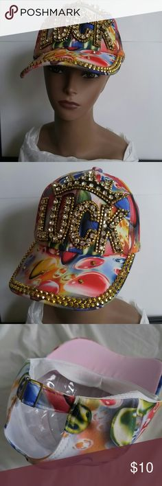 Hat...nling hat of rhinestones Hat ...bling hat of rhinestone, crown Luck Accessories Hats