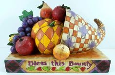 Jim Shore Heartwood Creek Horn of Plenty Bless This Bounty Cornucopia 4005001 in Collectibles, Decorative Collectibles, Decorative Collectible Brands | eBay