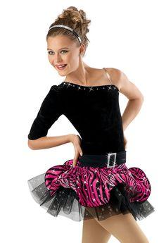 Top with Zebra Spiral Skirt; Weissman Costumes