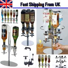 Modern rotary bottle stand drinks #optics #dispenser #spirits wine steel bar butl, View more on the LINK: http://www.zeppy.io/product/gb/2/281965601469/