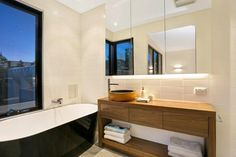 Clean lined modern bathroom - a real space to get refreshed.  31A Noble Street Barwon Heads - New Home Builder Geelong and Surfcoast - Living Edge Properties