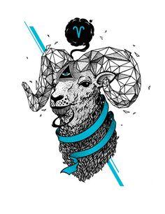 Arte Aries, Aries Art, Astrology Pisces, Zodiac Art, Astrology Zodiac, Zodiac Signs, Aries Horoscope, Horoscope Tattoos, Zodiac Sign Tattoos